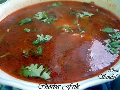 Chorba, soupe au frik algerienne