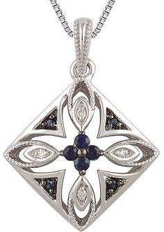 Attractive Genuine Gemstone Blue Sapphire Pendant for SALE at BitCoin Gems
