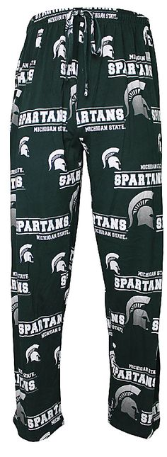 NCAA Michigan State Spartans Mens Green Fusion Pajama Pants  $31.95
