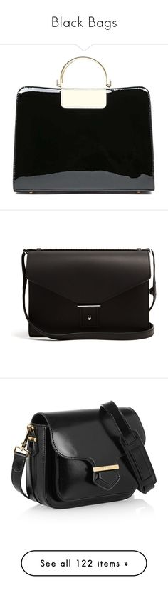 """""""Black Bags"""" by hallierosedale ❤ liked on Polyvore featuring bags, messenger bags, patent leather crossbody bag, patent leather bag, crossbody messenger bag, crossbody bag, cross body, handbags, shoulder bags and torebki"""