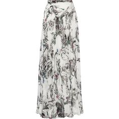 Matthew Williamson Printed silk-chiffon maxi skirt (16 975 SEK) ❤ liked on Polyvore featuring skirts, white, colorful skirts, multicolor skirt, multi color maxi skirt, multi colored maxi skirt and ankle length skirts