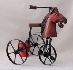 Vintage Handmade Miniature HorseHead Tricycle  Too by YourHeart, $35.00