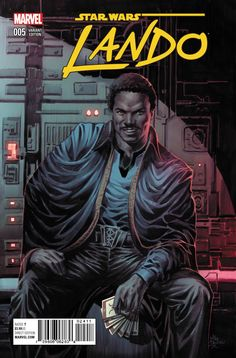 Star Wars - Lando #5 variant cover by Mike Deodato Jr., colours by Frank Martin *