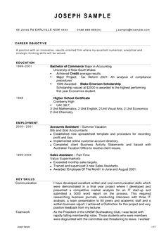 Resume Format Accountant - DOC