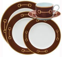 ❤❤❤❤ Cheval Chestnut Brown 5 piece Setting by Julie Wear $260.00 www.horseandhound.com