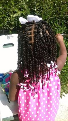 Twists. Little girl hairstyle