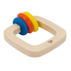 Twister Rattle  Shake up baby's playtime with a colorful wooden rattle, created especially for grabbing hands, teething gums, and curious minds.  Age 6 Months+