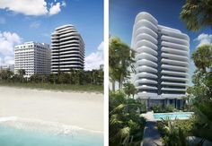 foster + partners unveil faena house, a miami beach luxury condo, part of a greater development of a high-end cultural district along miami's waterfront. Foster Partners, Luxury Condo, Miami Beach, The Fosters, North America, Exterior, Building, House, Condos