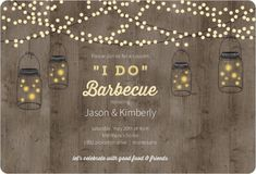 Easily customize this Mason Jar Party Lights Couples Shower Invitation design using the online editor. All of our Couples Shower Invitations design templates are fully customizable. 40th Birthday Invitations, Couples Shower Invitations, Fall Wedding Invitations, Couples Shower Themes, Mexican Invitations, Fall Wedding Groomsmen, Fall Wedding Bridesmaids, Outdoor Bridal Showers, Winter Bridal Showers