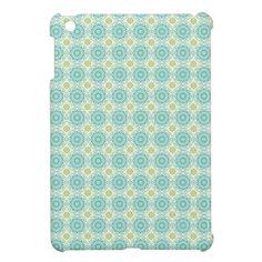 Cool Pastel Blue Retro Circle Pattern Easter iPad Mini Cases