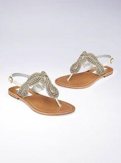 steve madden embellished twist sandal