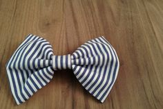 The Hairclip: Blue & White Striped by Poise & Ivy