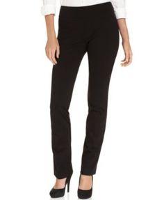 Karen Kane Straight-Leg Pull-On Pants lyocell/nylon/spandex black szXS 33.4L 88.00