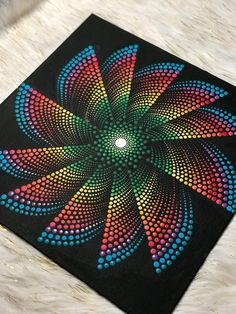 Whirlwind Dotted Mandala / Hand painted / Decorative Art / canvas panel / Matte protective sealer - Selina P. Mandala Art, Mandala Design, Mandala Canvas, Mandala Drawing, Mandala Painting, Mandala Pattern, Crochet Mandala, Dot Art Painting, Painting Patterns