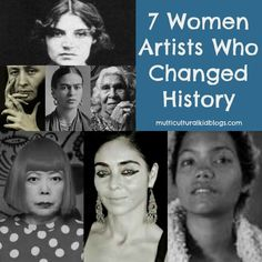 Women artists from around the globe to share with children during Woman's History Month. Lean about the art and lives of seven amazing women. Art History Lessons, History For Kids, History Memes, Women In History, History Books, Art Lessons, History Timeline, History Education, History Activities