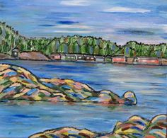 """Shack Island"" 10 x 12 Acrylic by Romaine Windley $125"