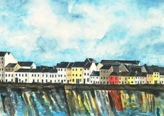 The Long Walk - Reflections Fishing Villages, Long A, Limited Edition Prints, Reflection, Walking, River, Artist, Painting, Jogging