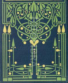 Art Nouveau Glasgow School book design (An original highly-stylized Art Nouveau…