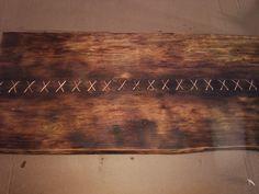 Столешница проплетенная медной проволокой, созданная мастерской Wood & Metall