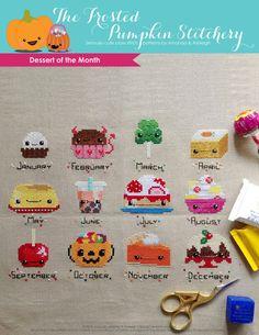 Dessert of the Month PDF Cross Stitch Pattern by Frosted Pumpkin Stitchery
