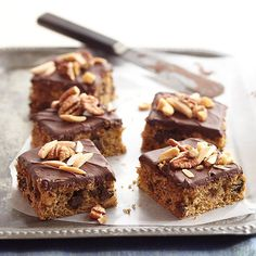 We love the sweet taste of maple in these Flour-Nut Maple Bars: http://www.bhg.com/recipes/desserts/chocolate/brownies-and-bars/bar-cookies/?socsrc=bhgpin073014flournutmaplebars&page=19