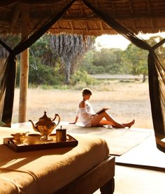 Another look at this stunningly exotic honneymoon destination: Selous Safari Camp in Tanzania