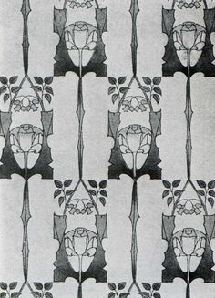 'Whitwood' wallpaper design by Harry Napper, Produced in 1906.