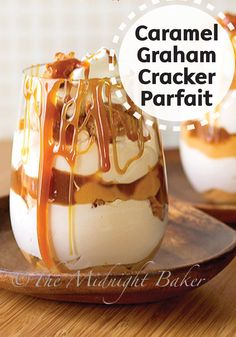 Give this delicious Caramel Graham Cracker Parfait dessert recipe a try tonight! Butterscotch pudding and morsels, along with graham crackers, whipped topping, and caramel sauce, combine to create a messy sweet treat that is sure to delight your taste buds.