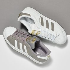 Adidas Superstar Sneakers in White Floral Glue Store