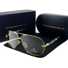 Blanche Michelle Men Rimless UV400 Sunglasses #Sunglasses
