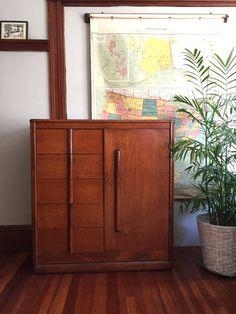 Mid Century Mod Vintage Armoire