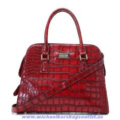 Michael Kors Tote Crocodile Leather Red For Sale