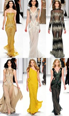 J. Mendel Fall 2012 Collection    Someone please buy me the yellow dress.