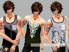 Sims 4 CC's - The Best: Giruto 23 Tank top by Karzalee