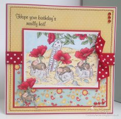 House Mouse card, from the Summer Parasol set by Joanna Sheen.http://cardsbyfernie.blogspot.co.uk/