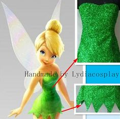 Hecho a mano - Tinker bell, traje de Tinkerbell, Tinkerbell disfraz, Tinker bell vestido, Tinker Bell Cosplay traje de adulto/niño Tinkerbell Costume Toddler, Tinkerbell Dress, Tinkerbell Fairies, Tinker Bell Kostüm, Tinker Bell Cosplay, Peter Pan Halloween, Halloween Diy, Halloween Costumes, Disney Cosplay
