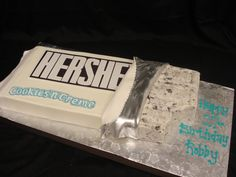 A Hershey's Cookies & Cream birthday cake by Party Flavors Custom Cakes.