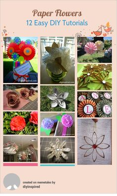 12 Easy Paper Flower Crafts » DIY Inspired