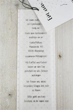 Carolas Bastelstübchen: ★ Kommunion, Konfirmation