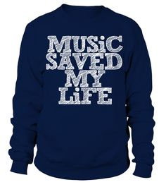 # music listen sing song mu sic mom dad singer tshirt .  Music Saved My Life