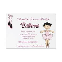 wording for dance recital invitation Google Search Dance