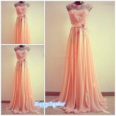 Custom Cheap Aline Chiffon Applique Pink Long Prom by HappyBegins, $139.00 https://www.etsy.com/listing/181832330/custom-cheap-a-line-chiffon-applique?ref=shop_home_active_3
