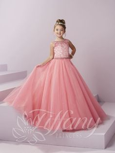 Tiffany Princess 13486 Party Pink Pearl Beaded Little Girl Pageant Dress Little Girls Fancy Dresses, Little Girl Pageant Dresses, Pageant Gowns, Girls Dresses, Prom Dresses, Quince Dresses, Flower Dresses, Ball Gowns, Poses