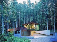 Flat Roof Home - In the forest. Any of these please! - Flat Roofing