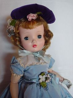 MADAME ALEXANDER, CISSY-FACE, MINT SWEET VIOLET DOLL W/ HANG&CLOVER WRIST TAGS!