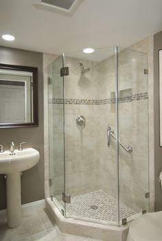 Beautifully remodeled bathroom in Reston, VA.  #bathroom #shower: