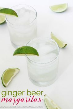 Ginger Beer Margarita recipe The perfect cocktail for a summer barbeque, this is my go to drink with guests, love the ginger with the lime juice!