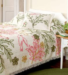 chenille bedspread....have never seen one like this.......love love love!