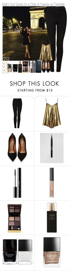 """Night Out Going to the Club in France with Danielle"" by elise-22 ❤ liked on Polyvore featuring Topshop, River Island, Givenchy, Stila, shu uemura, NARS Cosmetics, Tom Ford, Robert Piguet, Butter London and ASOS"