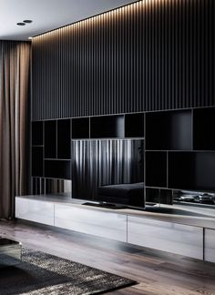 9 new ideas living room tv wall ideas tv decor shelves 5 # livingroom Living Room Tv Unit, Home Living Room, Living Room Designs, Deco Tv, Art Deco, Tv Feature Wall, Modern Tv Wall, Modern Tv Room, Modern Apartment Decor